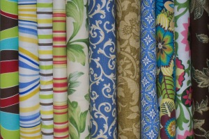 Original Elfcroft Header Image: Fabrics for Yoga Mat Bag project
