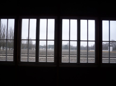 View from barracks of Dachau concentration camp, Munich