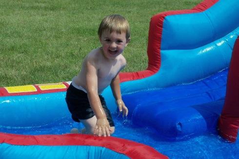 Tyson's third birthday....what a splash!