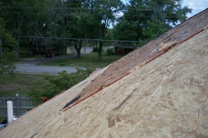 Preparation for new decking and new shingles