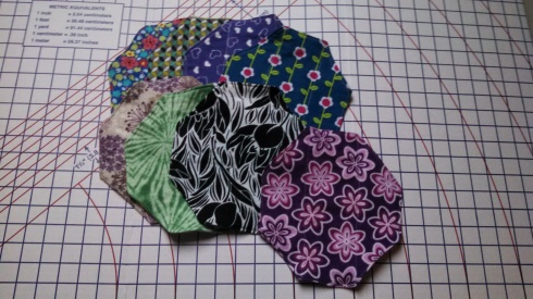 Selection of reversible, tri-fold flannel pads