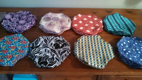 Eight different flannel pads per kit