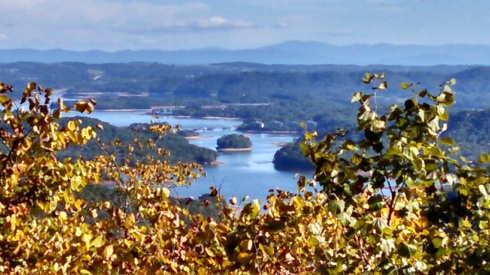 Lake view @ Clinch Mountain overlook