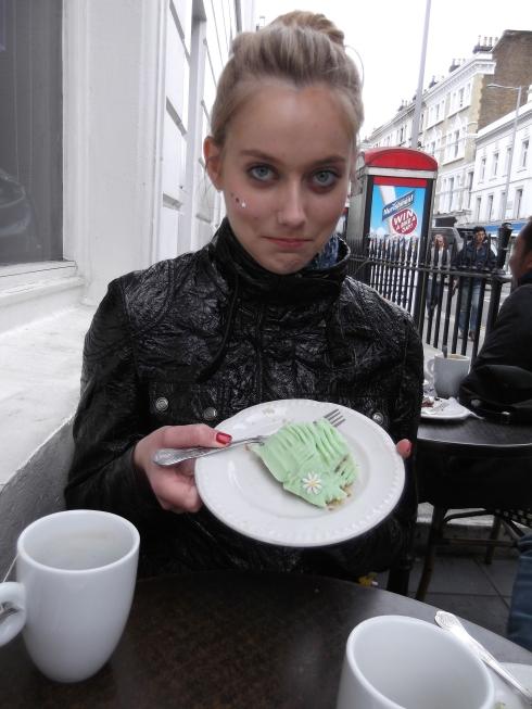 Birthday cake from the Hummingbird Bakery, London