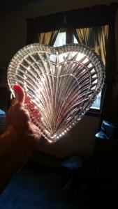 Crystal heart light