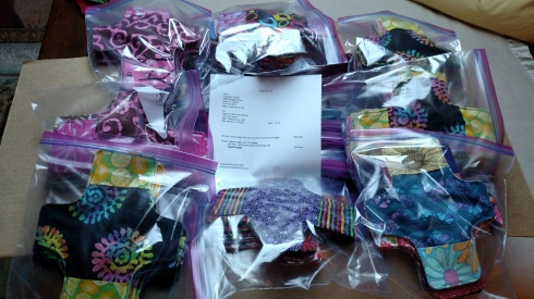 Shipping 80 liners and 320 flannel pads to Days for Girls International