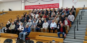 Over 100 veterans representing all branches of service