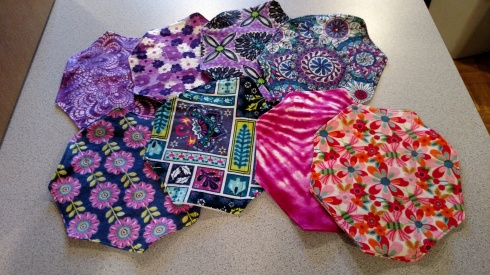 """39 more """"sets"""" of 8 tri-fold flannel pads ready to ship!"""
