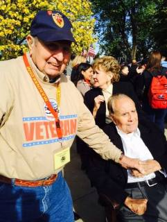 2014 Honor Flight, met Senator Bob Dole